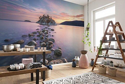 Komar - fotobehang WHYTECLIFF -368 x 254 cm - behang, muurdecoratie, Canada, landschap, eiland, zee, wolken - 8-534