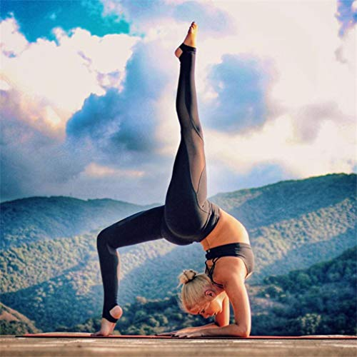 Hoge Elasticiteit Strak Sneldrogend Patchwork Mesh Stiksels Running Fitnessbroek Sport Gym Leggings Yogabroek SportkledingZwart