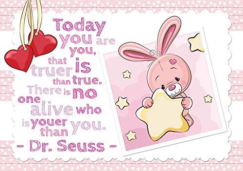 DekoShop Fototapete Vlies Tapete - Wanddeko Wandtapete Kaninchen Teddybär Kinderzimmer AMD12539V8 V8 (368cm. x 254cm.) Für Kinder