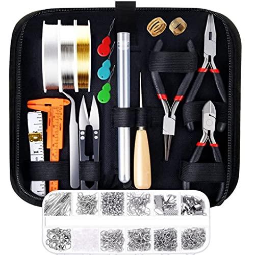 Tuimiyisou Herramientas de joyería Que Hace el Kit Especial de la Cremallera del Bolso de Bricolaje para la reparación del Collar de la Pulsera Rebordear Bien Material
