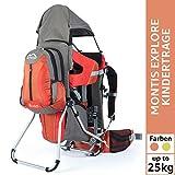 MONTIS Explore Evolution, Zaino Porta Bimbo, Fino a 25 kg, 2000g, Arancione