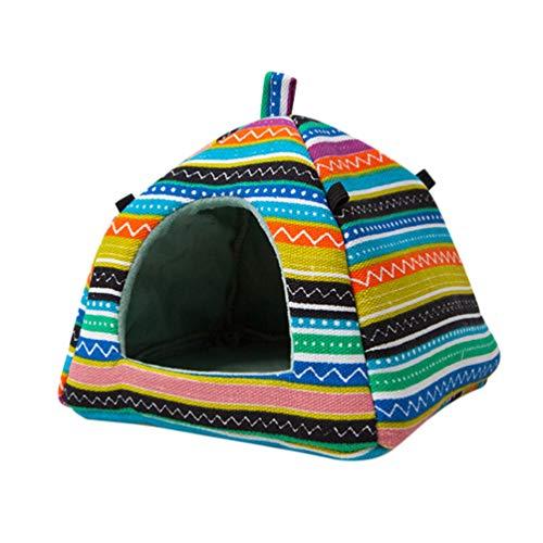 POPETPOP Adorable caseta para cobayas – Cálido nido de invierno de pequeños animales para hámster, erizo, chinchillas, ardillas, cobayas suspendidas, cama de cueva (estilo mongolia)