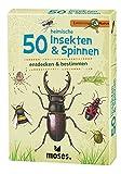 moses. Expedition Natur - 50 heimische Insekten und Spinnen  Bestimmungskarten im Set   Mit spannenden Quizfragen