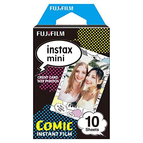 Viene en un paquete de 10 unidades Para uso en todas las cámaras instantáneas Instax Mini e impresoras SHARE de Instax La emulsión de la película se realiza a temperaturas tan bajas como 5°C y hasta 40°C Está disponible con tamaño de película de 54 x...