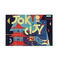 KaariDream ピクチュアパズル ステップ脳シリーズ ジグソーパズル 500ピース 減圧 大人 富士山 東京タワー 日本 和風 和柄 黒 ブラック 北欧 シンプル 木製プレミアム品質(38*52cm)