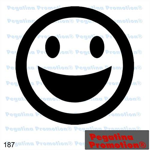 Piktogramm Typ 187 Icon Symbol Zeichen Smiley fröhlich lachend Aufkleber Sticker ca.15cm von Pegatina Promotion® Aufkleber mit Verklebehilfe von Pegatina Promotion® ohne Hintergrund geplottet