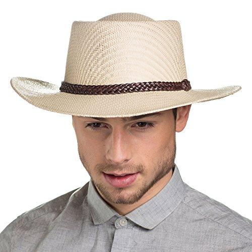 I-Smalls Chapeau de Cowboy en Papier Paille Léger Été Homme MS15018 (60)