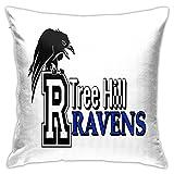 Tree Hill Ravens - Funda de almohada cuadrada para sofá decorativo de 45,7 x 18 pulgadas, ultra suave, cómoda funda de almohada