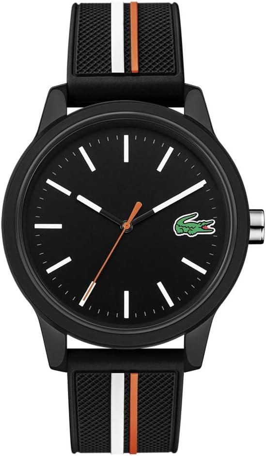 ساعة انالوج كوارتز مع سوار من السيليكون للرجال من لاكوست 2011071