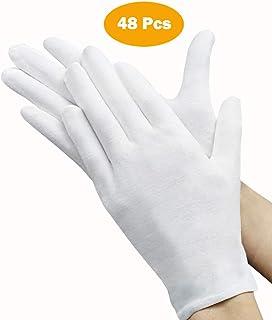 دستکش های سفید 48 عددی ، آندستون 24 جفت دستکش پنبه ای نرم ، دستکش بازرسی نقره ای جواهرات سکه ، دستکش کشش ، اندازه متوسط