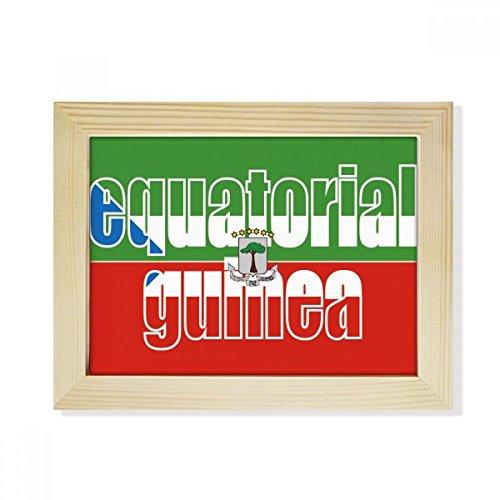 DIYthinker Äquatorial-Guinea Flagge Name Desktop-HÖlz-Bilderrahmen Fotokunst-Malerei Passend 15.2 x 20.2cm (6 x 8 Zoll) Bild Mehrfarbig