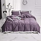 Bettwäscheset King Size Seide, Dedding Sets Double Size Bettwäscheset King Silk Bettbezüge mit Spannbetttuch Seidenbaumwolle Satin Bett Twin 4St