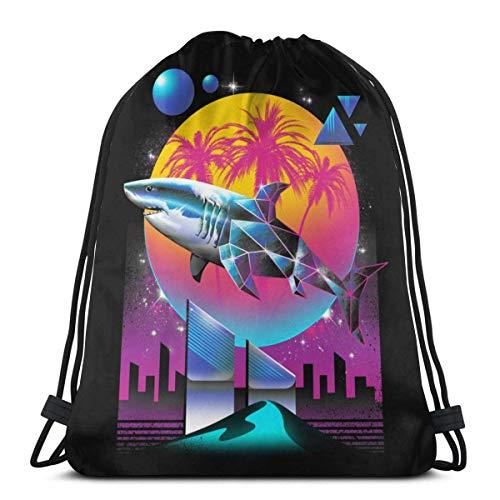 Drstring Bags Sport Gym Sa Party Favor Bolsas bolsa de regalo de almacenamiento Drstring Bapa Goodie Bolsas Cinch Bag - Diamond Shark