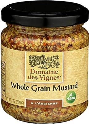 Domaine Des Vignes, Mustard Whole Grain, 7 Ounce