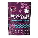 Suncore Foods – Organic Rhodolite Maqui Berry Supercolor Powder, 5oz – Natural Maqui Berry Food Coloring Powder, Plant Based, Vegan, Gluten Free, Non-GMO