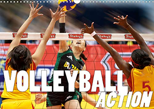 Volleyball Action (Wandkalender 2021 DIN A3 quer)