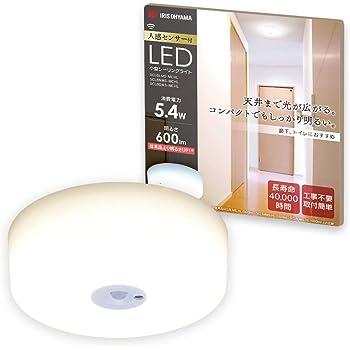アイリスオーヤマ LEDシーリングライト 小型 メタルサーキットシリーズ 600lm 人感センサー付 電球色 SCL6LMS-MCHL