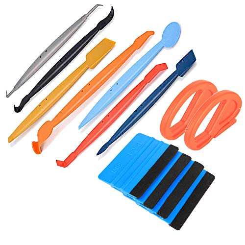 ARTGEAR Vehicle Vinyl Application Tool Kit 4 in 1 Micro Mini Squeegee Vinyl Wrap Graphic Application Tucking Molding Tool with Different Hardness for Installing Auto Wraps and Car Stickers
