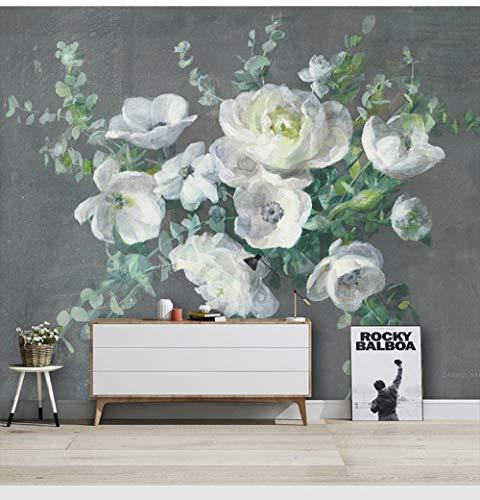Papel Pintado De Flor Rosa Pintado A Mano De Estilo Europeo, Pintura Al Óleo, Mural De Flores De Peonía, Sala De Estar, Mural De Pared De Fondo De Tv