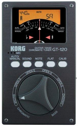 Korg KOR GT120 RS - Afinador crómatico para guitarra y bajo (display LED)