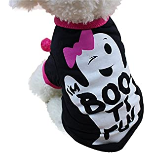 U.Expectating Pet Clothes, 2018 Cool Halloween Cute Pet T Shirts Clothing Small Puppy Costume (S, black):Carsblog