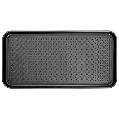 CHAOQUN Kunststofftablett, 760 x 383 x 29 mm, Schwarz, Mehrzweck-Tablett, für den Innen- oder Außenbereich, groß, für Pflanzen, Haustiere, Schuhe