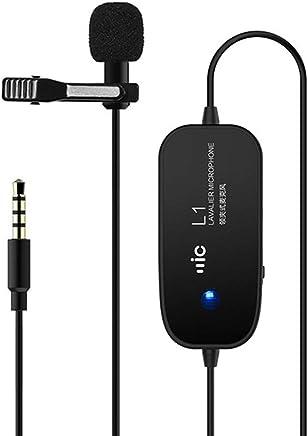 Risvolto Clip-on Microfono a condensatore omnidirezionale Microfono a Clip,Nero - Trova i prezzi più bassi