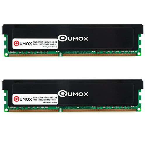 QUMOX 16GB (2X 8GB) DDR3 PC3-12800 1600MHz 1600 (240 Pin) DIMM Memoria