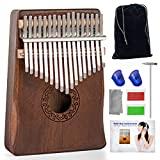 Kalimba Thumb Piano 17 Keys - Ucuber Portable Easy Operation Piano with Engraved Notes, Mahogany Wood, Best Gift Mbira Hurdy Gurdy for Thanksgiving Day, Christmas