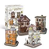 Revell- Hogwarts Diagon Alley, Die Winkelgasse mit 4 Gebäuden Accesorios, Color Coloreado (304)