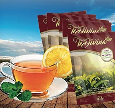The Original Detox Tea Formula 4 weeks supply. Excellent assistance during the weight loss and detox program (Limited Edition) by Vida Divina