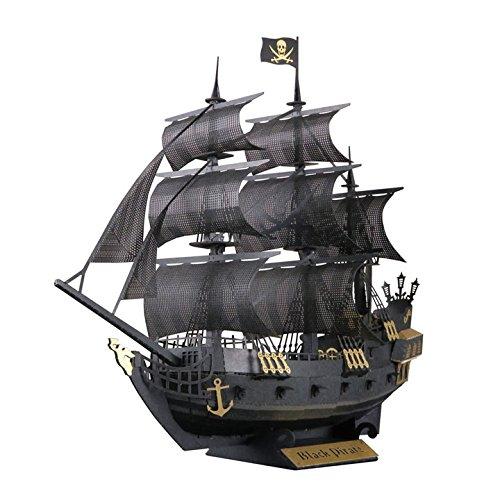 Paper Nano Black Pirate Ship Building Kit