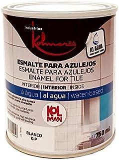 Kolmer - Esmalte al agua para azulejos blanco 750 ml Kolman directo sobre el azulejo sin imprimación