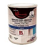 Kolmer - Esmalte al agua para azulejos blanco 750 ml Kolman directo sobre el azulejo sin...