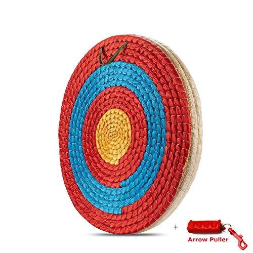 KAINOKAI Traditional Hand-Made Archery Target,Arrows Target for Recurve Bow Longbow or Compound Bow (Traditional Target Dia Φ:19.7in / 3 Layers)