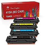 Toner Kingdom Cartucho de Tóner Compatible Repuesto para HP415A W2030A 2031A 2032A 2033A para HP Color Laserjet M454dn, M454dw,Pro M479dw, M479fnw, M479fdn, M479fdw (4 paquete, ningún chip)