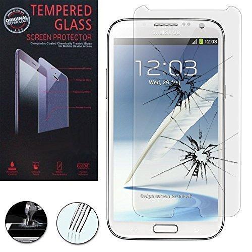 VCOMP® 1 Film Vitre Verre Trempé de Protection d'écran pour Samsung Galaxy Note 2 N7100/ N7105 - Transparent