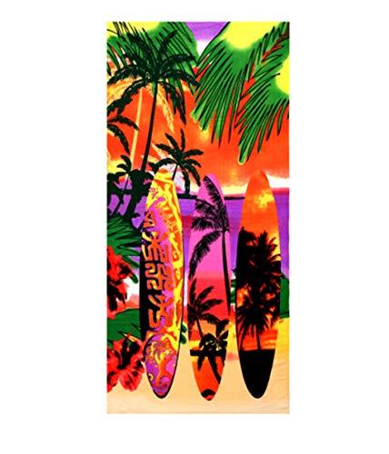 Große Strandtücher Badetuch Schnell Trocknend Wasseraufnahme Extra Microfiber,Pferde,Delphin, Hawaii-Motiv 100 x180CM,Mehrfarbig (Skateboard)