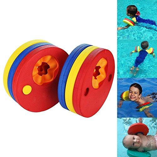 ToWinle - Discos flotantes (6 unidades), diseño de alas para nadadores de niños
