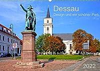 Dessau Design und ein schoener Park (Wandkalender 2022 DIN A2 quer): Weltkulturerbestaette durch das Bauhaus und einen besonderen Park (Monatskalender, 14 Seiten )