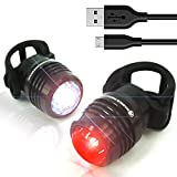 Magnus Innovation Bold 360 Bike Light Kit, Super Bright USB Combo Light Set Runs for 16 Hours, Fits All Mountain Bikes, Road Bicycle, Backpacks, Waterproof & Install in Seconds