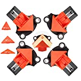<span class='highlight'><span class='highlight'>UHAPEER</span></span> 90 Degree Corner Clamps for Woodworking, 4 Pack, Right Angle Clamp Set, Including 60 & 120 Degree Adjustable Components, Corner Fixing Clip for Frame Welding Drilling DIY Furniture