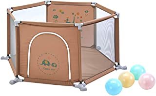 LXDDP Playpen Safety Baby Playpen with Balls  Hexagon Anti-rollover Toddlers Playard for Activity Centre  67cm Tall Anti-collision Baby Room Divider