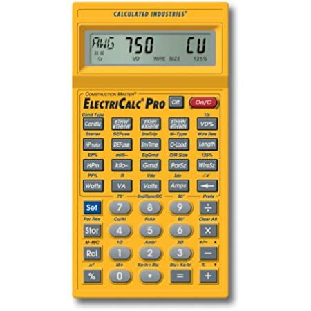 Calculated Industries 5070 ElectriCalc Pro Electrical Code Calculator