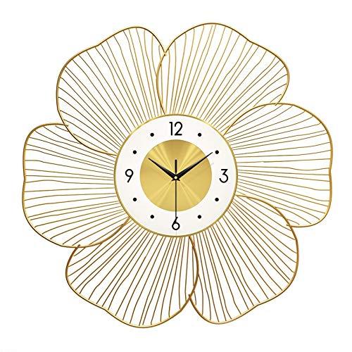 WLYX Reloj De Pared De Moda, Reloj De Decoración De Sala De Estar Simple, Reloj De Personalidad De Pared De Arte Casero De Lujo con Luz Creativa (Color : A, Size : 60CM)