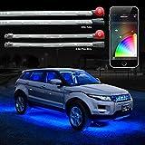 8pc 24' Under Glow Tube + 6pc 10' Interior Strips XKchrome App Control Car LED Accent Light Kit Millions of...