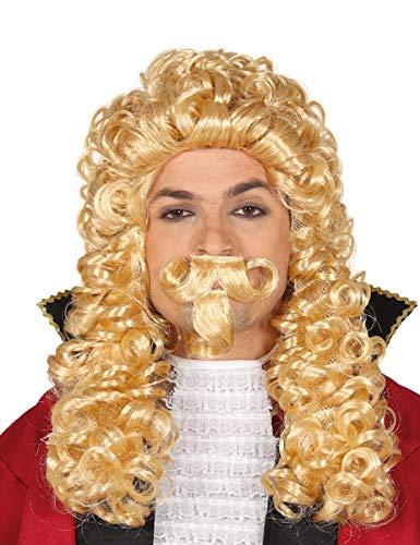 Guirca Blonde Barock Perücke für Herren Herzog Richter Karneval Fasching blond