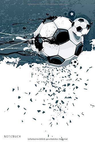 Notizbuch: Fussball Notizbuch A5 liniert | Notizheft | Tagebuch | Journal | Geschenk für Fussballer Fussballfans 1 | 120 Seiten
