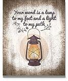Psalm 119:105 Wall Art 11' x 14' Unframed...