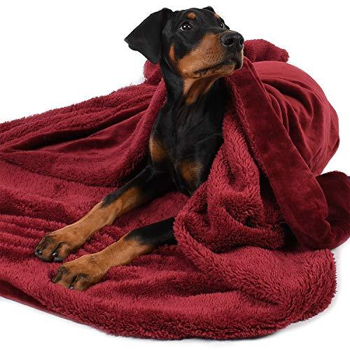 Pawsse Large Dog Blanket, Super Soft Fluffy Sherpa Fleece...